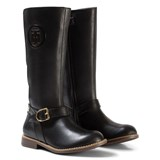 Tommy Hilfiger Black Aubrey Leather Tall Boots