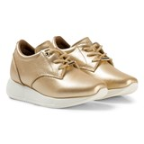 Tommy Hilfiger Gold Metallic Wedge Trainers