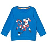 Billybandit Blue Ice Hockey Print Sweater