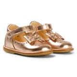 Angulus Rose Gold Bow Detail Mary Janes