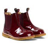 Angulus Burgundy Patent Brogue Chelsea Boots