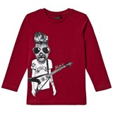 IKKS Burgundy Dog Rocker Tee