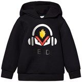 Fendi Black Monster Print Neoprene Hoodie