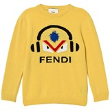 Fendi Mustard Monster DJ Wool Jumper