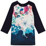 Catimini Navy Floral Front Jersey Dress