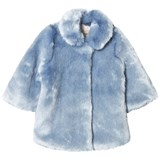 Hucklebones Powder Blue Faux Fur Coat