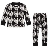 NUNUNU Black X-Ray Skull Loungewear Set