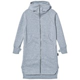 NUNUNU Heather Grey Maxi Zip Hoodie