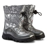 Naturino Silver Foil Varna Waterproof Suede and Nylon Boots