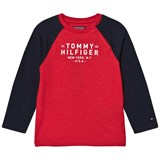 Tommy Hilfiger Red and Navy Baseball Tee