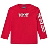 Tommy Hilfiger Red Branded Long-Sleeved Tee