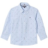 Tommy Hilfiger Blue Branded Dobby Shirt