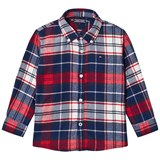 Tommy Hilfiger Navy and Red Check Shirt