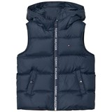 Tommy Hilfiger Navy Down Feather Branded Gilet
