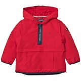 Tommy Hilfiger Red Branded Anorak