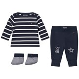 Tommy Hilfiger Navy Stripe 3 Piece Set