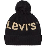 Levi's Black and Gold Branded Bobble Hat