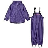 Ticket To Heaven Rain Set 2pcs Authentic Rubber With Detachable Hood Parachute Purple