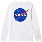 Lands' End White Nasa Graphic Tee