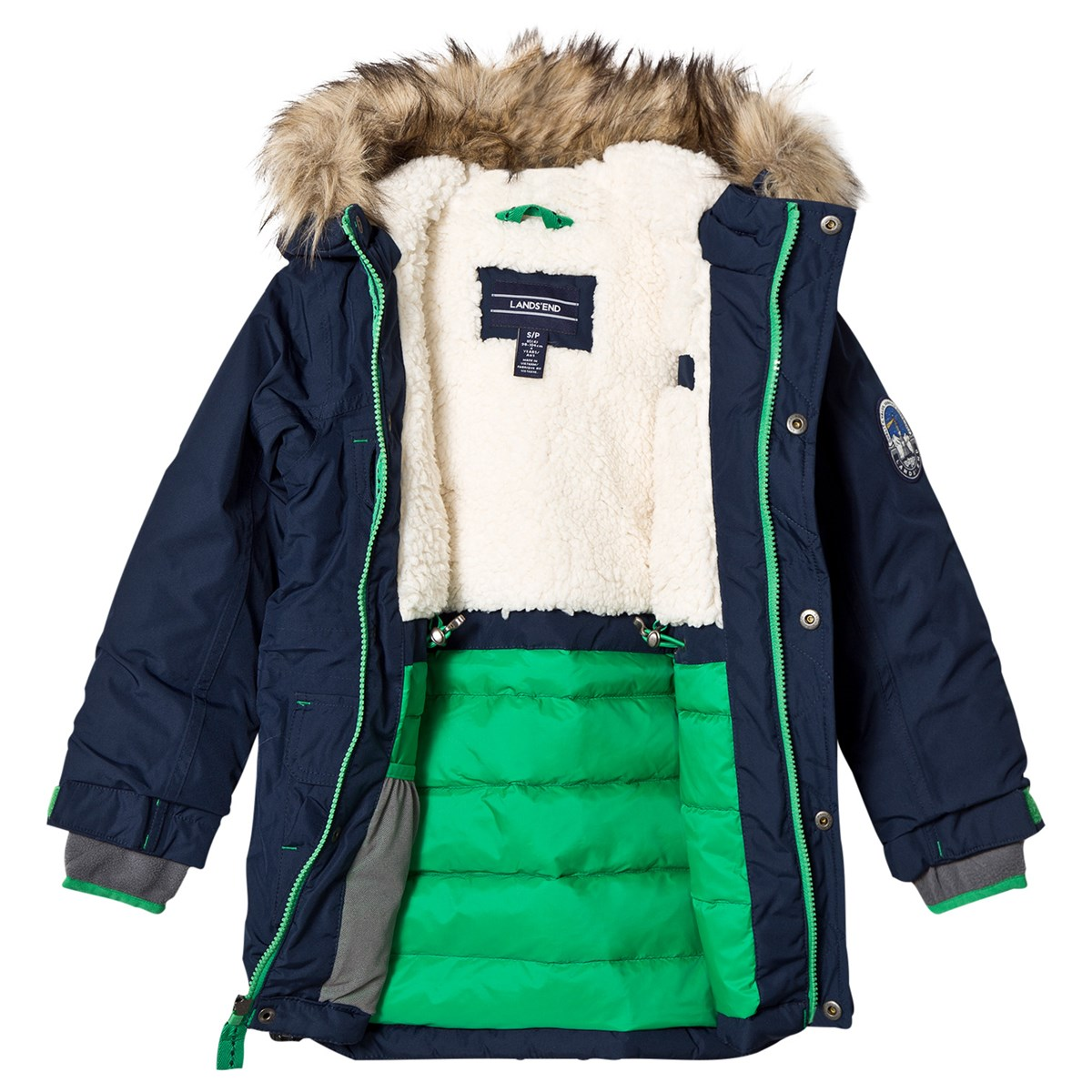 b56e51b37fe Lands' End Navy Boys Expedition Parka | AlexandAlexa