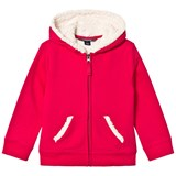 Lands' End Red Berry Solid Sherpa Hoodie