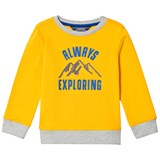 Lands' End Yellow Graphic Print Sweatshirt