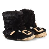 Hatley Black Bears Kids Slippers