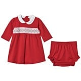 Kissy Kissy Red Velour Smock Front Christmas Dress