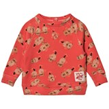 Tootsa MacGinty Red Otter Print All Over Sweatshirt