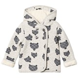Tootsa MacGinty Grey Wolf Print All Over Hooded Sweatshirt