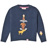 Tootsa MacGinty Navy Animal Totam Embroidered Jumper