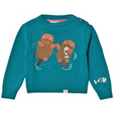 Tootsa MacGinty Blue Otter Embroidered Jumper