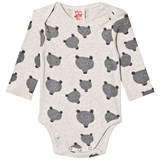 Tootsa MacGinty Grey Wolf Print All Over Baby Body