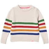 Tootsa MacGinty Cream Multicolor Striped Knit Jumper