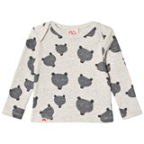 Tootsa MacGinty Grey Wolf Print All Over Long Sleeve T-Shirt