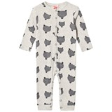 Tootsa MacGinty Grey Wolf Print All Over Baby Romper