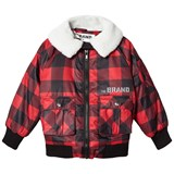 The BRAND Red Check Pilot Shearling Jacket