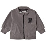 The BRAND Grey Fleece Sweater With Black Leather Bolt