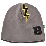 The BRAND Fleece Hat Graphit Grey With Black Leather Bolt