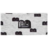 The BRAND Fleece Headband Grey Mel With B-Moji AOP