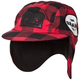 The BRAND Winter Cap Red Checked Flanell With B-Moji