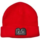 The BRAND Knit Hat Red Mel With Reflex B-Moji