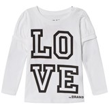 The BRAND Love Kiss Tee White With Black Sleeve