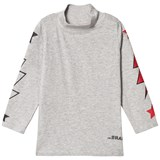 The BRAND Polo Bolt Tee LS Grey Mel With Red Stars