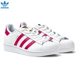 adidas Originals White and Pink Superstar Laced Trainers
