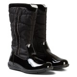 Primigi Black Patent and Quilted Tall Boots with Diamante Detail
