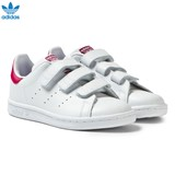 adidas Originals White and Pink Kids 3V Stan Smith Trainers