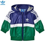 adidas Originals Blue and Green Logo Windbreaker