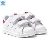 adidas Originals White and Pink Infant Stan Smith Trainers