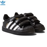 adidas Originals Black and White Infant Superstar Trainers